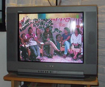 First broadcast from occupied Channel 9. Photo: D.R. 2006 Nancy Davies