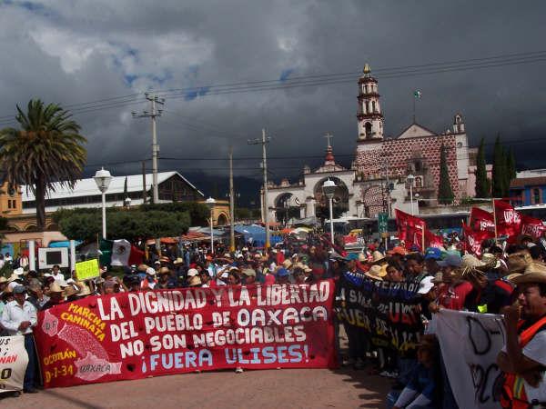 Marcha caminata se aproxima a la capital mexicana
