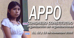 Constitutive Congress of the Popular Assembly of the Peoples of Oaxaca (APPO)