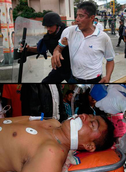 Brutal Repression Against a Professor in the Magonist Zapatista Alliance
