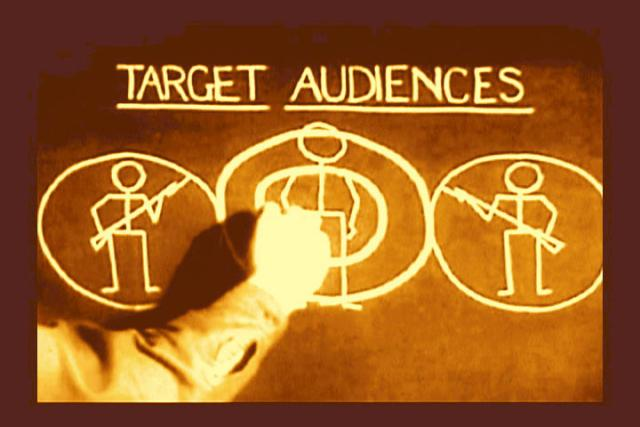target audience analysis. to the communities whose