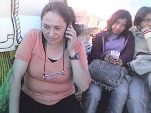 Gloria Arenas demands freedom for Atenco prisoners at the Molino de Flores Otro Plantón