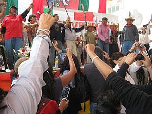 San Salvador Atenco. México: El triunfo se festeja