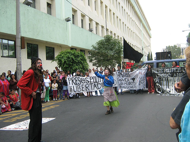 July 14, 2010 rally for the freedom of Víctor Herrera Govea