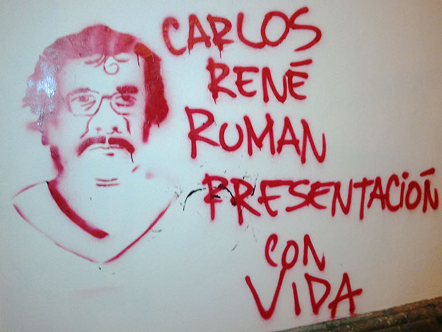 Teachers demand Professor Román Salazar be returned alive