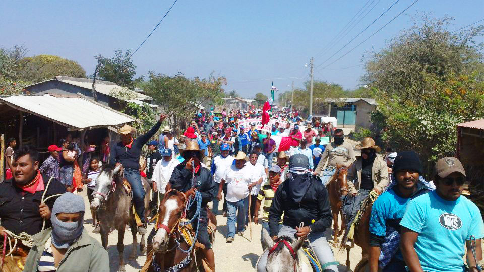 Isthmus: Caravan in Defense of the Land and Territory welcomed in Álvaro Obregón