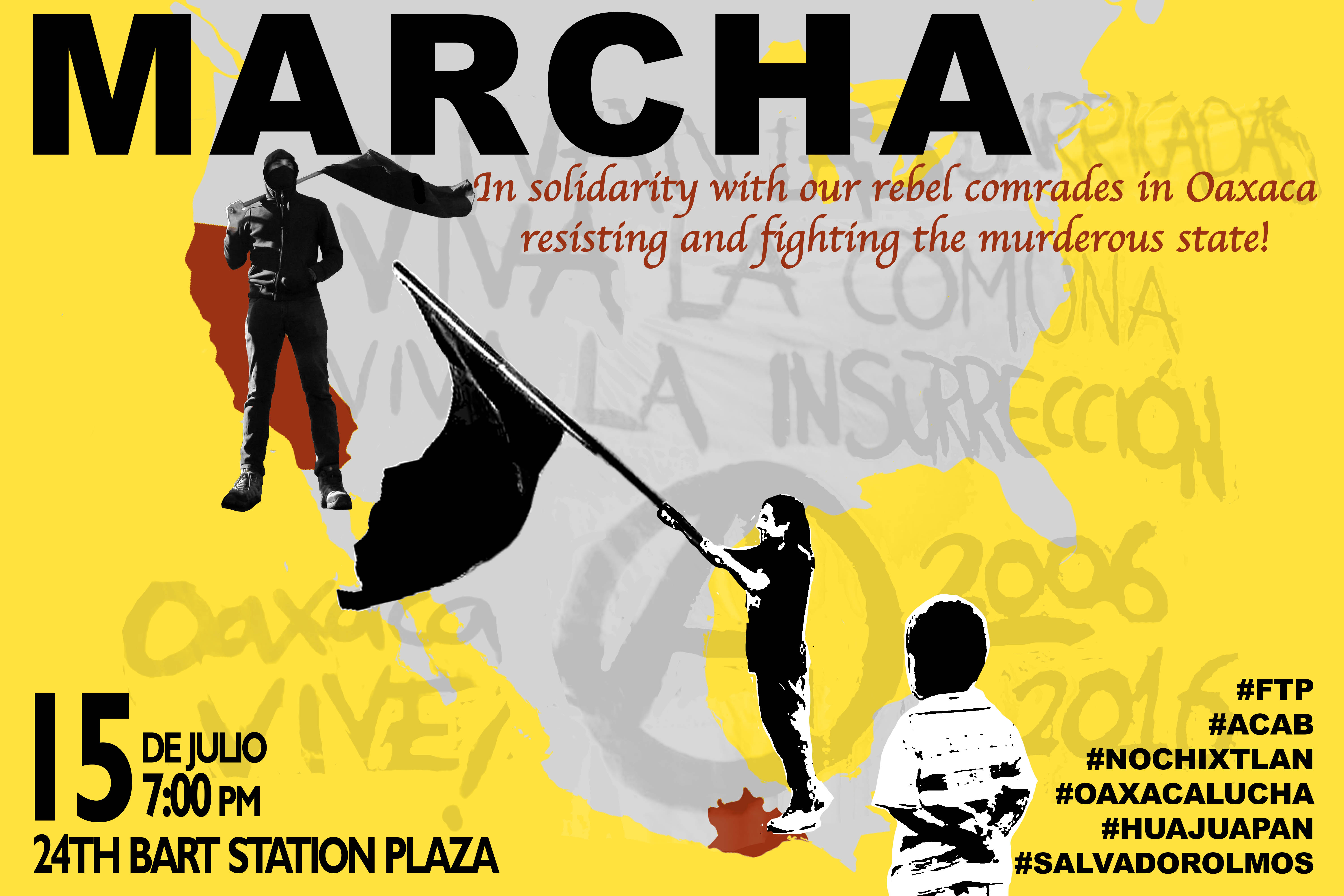 San Francisco: Solidarity March and Rally With Oaxacan Uprising