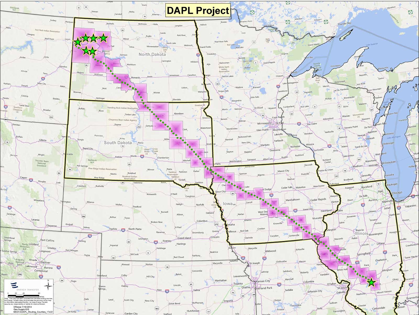 DAPL Project Map